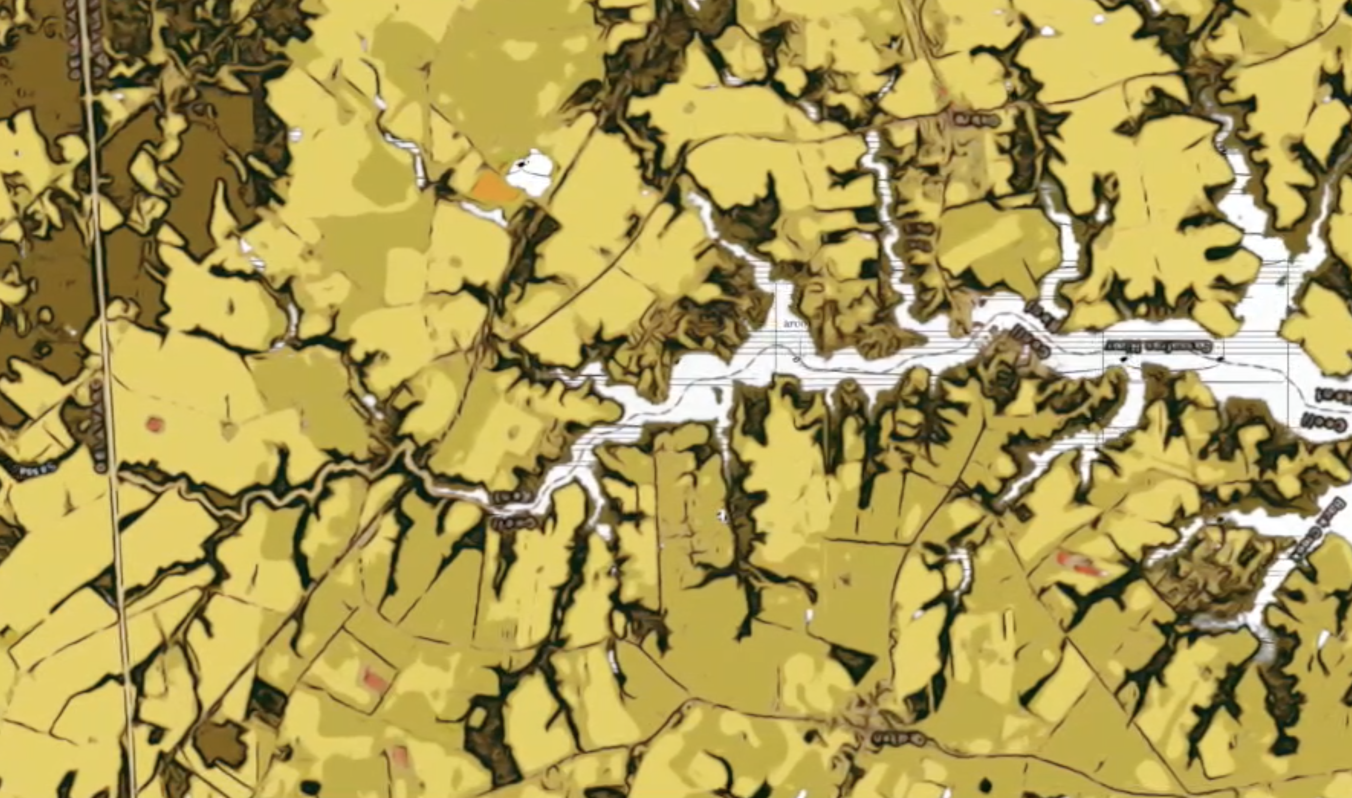 aerial satellite image of one tributary of the Chesapeake Bay